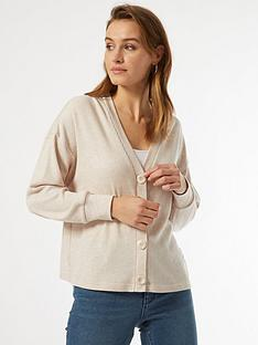 dorothy-perkins-brushed-rib-button-cardigan-beigenbsp