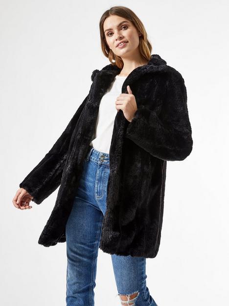 dorothy-perkins-longline-pelted-faux-fur-coat-blacknbsp