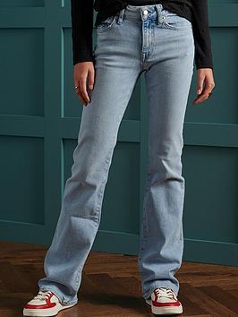 superdry-mid-rise-slim-flare-jeans-denim