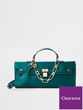 river-island-chain-detail-fashion-cross-body-bag-dark-green