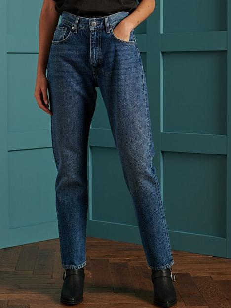 superdry-high-rise-straight-jeans-blue