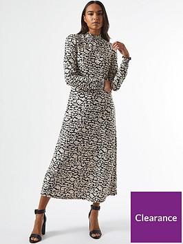 dorothy-perkins-tiered-shirred-neck-printed-midi-dress-black