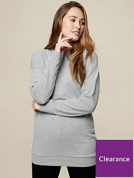 dorothy-perkins-long-line-sweatshirt--nbspgrey-marl