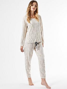 dorothy-perkins-owl-pyjamanbspset-beige