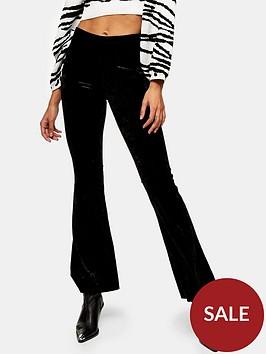 topshop-velvet-flare-trousers-black