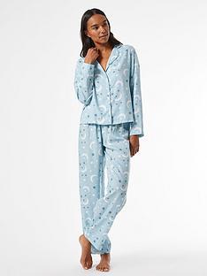 dorothy-perkins-moon-and-starsnbsprevere-pyjamanbspset-bluenbsp