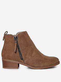 dorothy-perkins-wide-fit-macro-side-zip-ankle-boots-tan