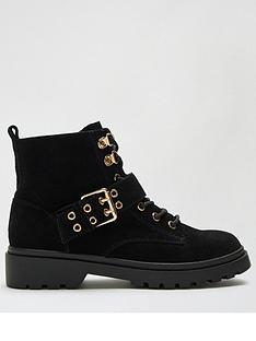 dorothy-perkins-oracle-suede-buckle-lace-up-boots-blacknbsp