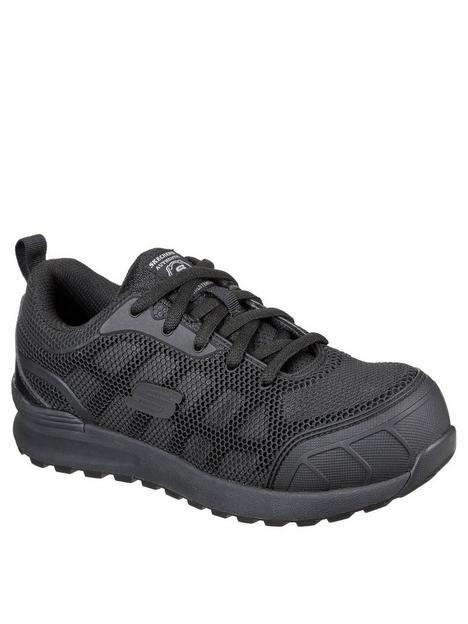 skechers-lace-up-athletic-with-safety-toe-trainer-black