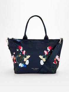 ted-baker-peppermint-small-nylon-tote-navy
