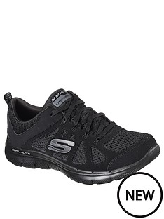 skechers-wide-fit-flex-appeal-20-leather-amp-mesh-lace-up-trainer-black