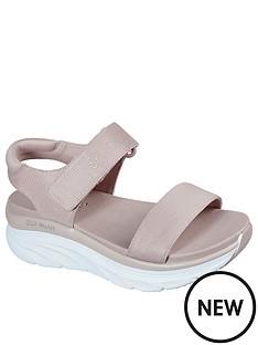skechers-dlux-walker-quarter-strap-wegde-sandal-blush