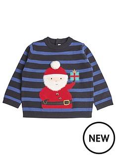 mamas-papas-baby-boys-santa-christmas-jumper-blue