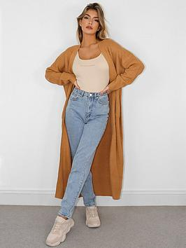missguided-missguided-longline-patch-pocket-cardigan-camel