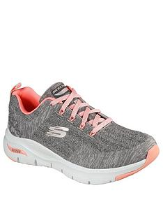 skechers-arch-fit-engineered-knit-lace-up-trainer--nbspgreypink