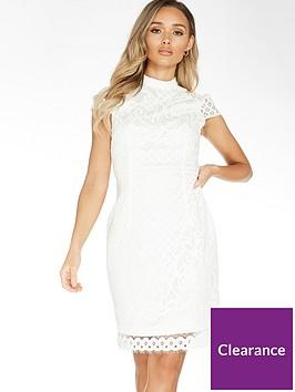 quiz-lace-contrast-lining-midi-dress-white