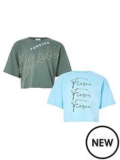 river-island-girls-2-pack-cropped-t-shirts--nbspmulti