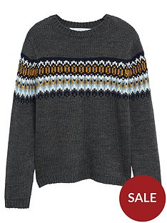 mango-boys-fairisle-knitted-jumper-charcoal