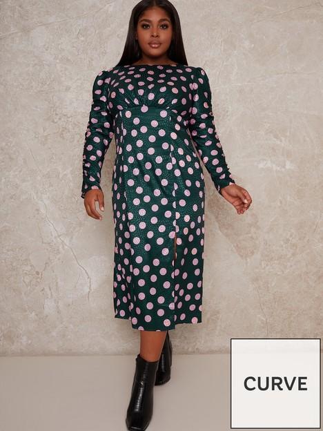 chi-chi-london-curve-cozette-dress-green
