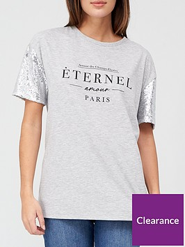 v-by-very-sequin-sleeve-eternel-oversized-t-shirt-grey