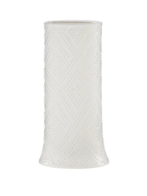 diamond-embossed-white-vase