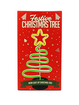 Product photograph showing Gift Republic Festive Neon Christmas Tree Lamp