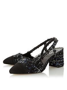 dune-london-croft-fabric-block-heel-shoe-navy