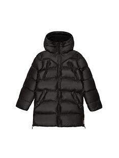 hunter-original-paddednbspcoat-black