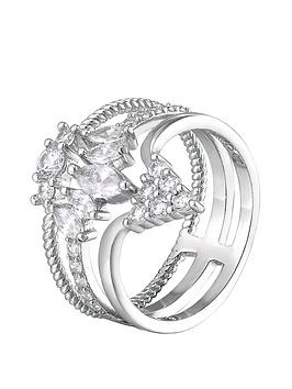 the-love-silver-collection-sterling-silver-cubic-zirconia-crown-shape-triple-stack-cocktail-ring