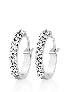 beaverbrooks-9ct-white-gold-crystal-hoop-earrings