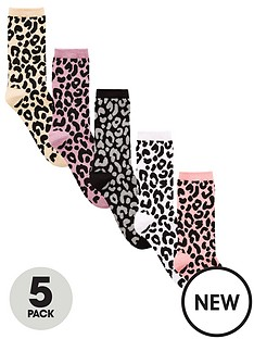v-by-very-valuenbsp5-pack-ankle-socks-animal-print