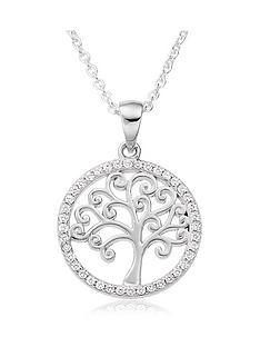 beaverbrooks-silver-cubic-zirconia-tree-pendant