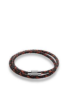beaverbrooks-stainless-steel-brown-leather-mens-bracelet