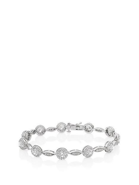 beaverbrooks-silver-cubic-zirconia-halo-bracelet