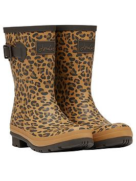 joules-mollynbspmid-height-printed-welly-tannbsp