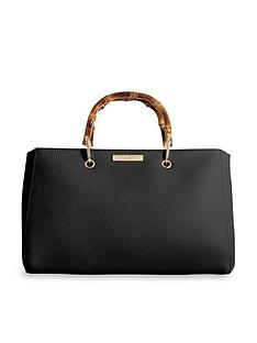 katie-loxton-avery-bamboo-handle-tote-bag-black