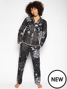cyberjammies-hannah-black-ditsy-floral-pyjama-set-multi
