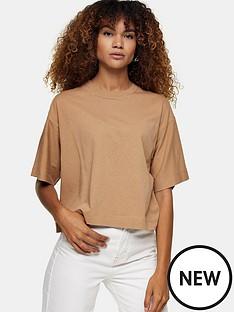 topshop-boxy-t-shirt-mocha