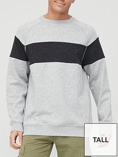 very-man-tall-chest-panel-sweatshirt-grey