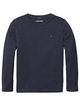 tommy-hilfiger-boys-long-sleeve-essential-flag-t-shirt-navy