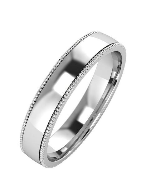 the-love-silver-collection-silver-mill-grain-edge-4mm-court-wedding-band