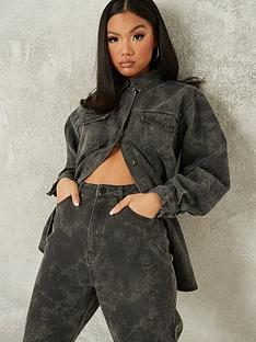 missguided-missguided-tie-dye-camo-denim-shirt-co-ord