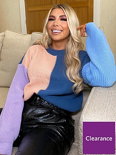 in-the-style-in-the-style-x-olivia-bowen-croppednbspmulti-colour-block-jumper-lilac