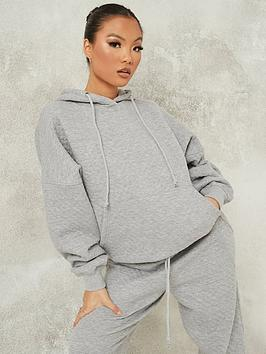 missguided-missguided-quilted-hoodie-grey