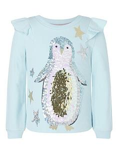 monsoon-girls-sew-christmas-penguin-sweat-top-blue