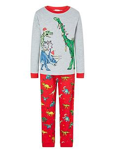 monsoon-boys-christmas-dino-pyjamas-red