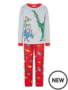 monsoon-boys-christmas-dino-pyjamas-red