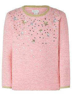 monsoon-girls-sequin-knitted-jumper-pink
