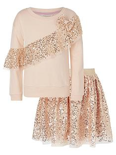 monsoon-girls-sequin-sweat-top-and-skirt-set-rose-gold