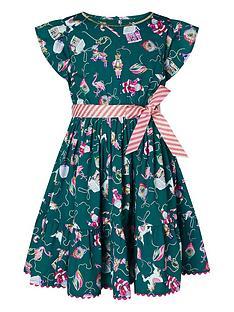 monsoon-girls-christmas-bauble-print-dress-green